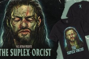 """Roman Reigns Gets Possessed for Cool New """"Suplexorcist"""" T-Shirt from WWE"""