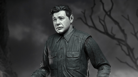 NECA Previews Upcoming Black & White 'Wolf Man' Action Figure